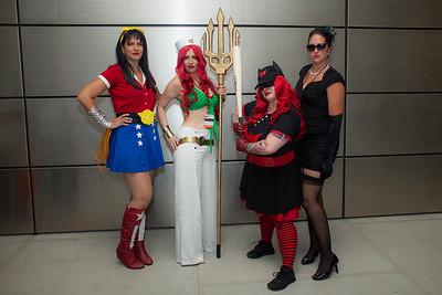 Bombshell Wonder Woman, Mera, Batwoman, & Catwoman