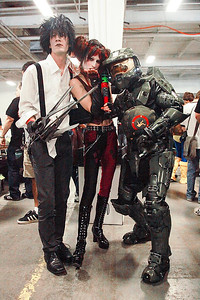 Edward Scissorhands, Harley Quinn, & Master Chief