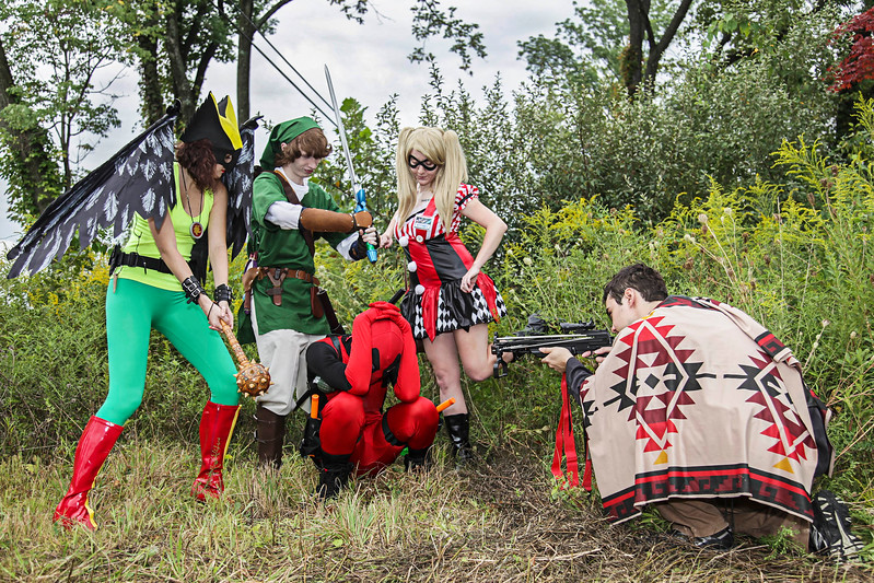 Hawk girl, Link, Harley Quinn, & Daryl Dixon vs. Deadpool