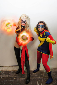 Captain Marvel & Ms. Marvel