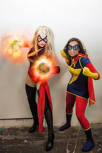 Captain Marvel & Ms. Marvel