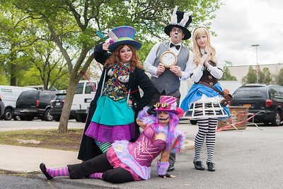 The Mad Hatter, White Rabbit, Alice Liddell, & Cheshire Cat