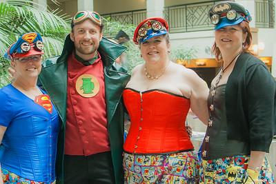 Supergirl, Green Lantern, Wonder Woman, & Batgirl