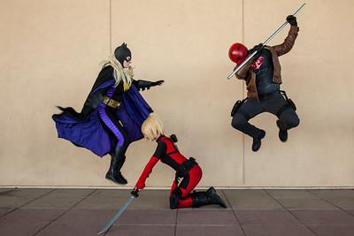 Batgirl & Red Hood vs. Lady Deadpool