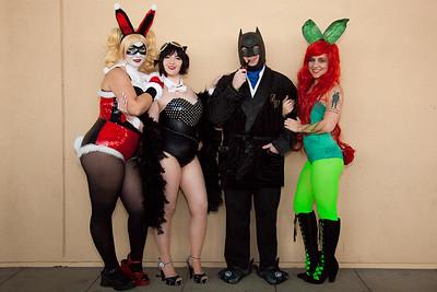 Harley Quinn, Catwoman, Batman, & Poison Ivy