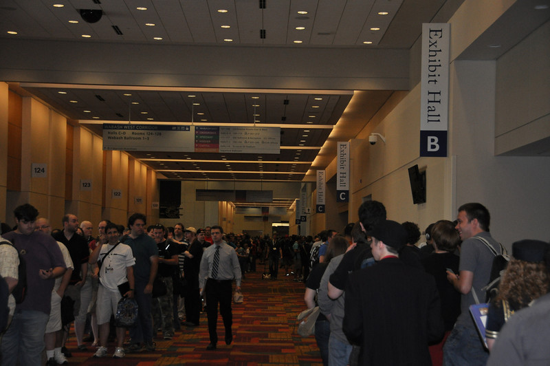 The Will Call line was out of control. This year GenCon wanted to make a little extra cash and started charging for shipping peoples badges and wouldn't guaranty them if they got lost in the mail. We waited nearly 2 hours but some waited 3 or more. Not the best way to start the con.