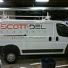 Dodge Promaster with custom print plots for Scott-Del Electric, Dallas, TX