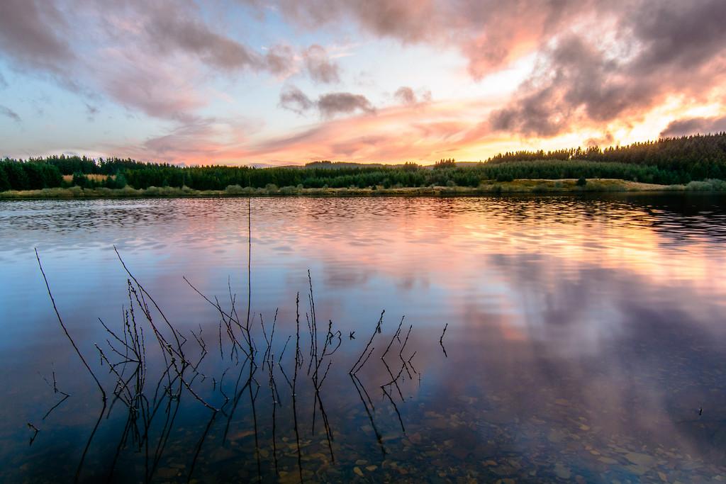 Alwen Reservoir Sunset