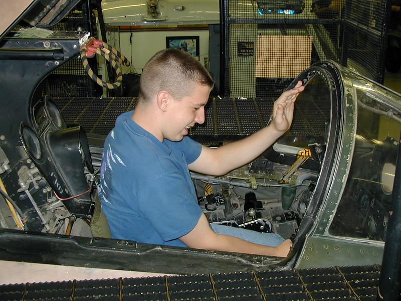 IN grissom joel cockpit