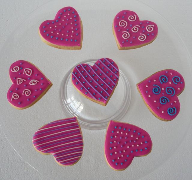 Cookies bañados en glase.