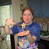 Making the Fresh Shrimp Rolls