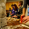 KRISTOPHER RADDER - BRATTLEBORO REFORMER<br /> A class at the Brattleboro Co-op teaches a good a children how to make pretzels on Tuesday, Feb. 21, 2017 during the 61st annual Brattleboro Winter Carnival.