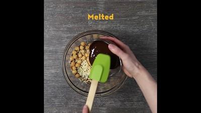 Crispy Chocolate Mustard Nut Clusters