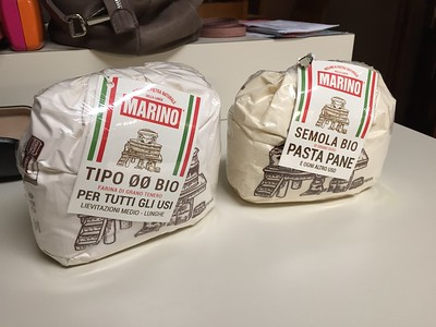Wonderful Italian white and semolina pasta flours