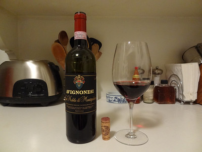 Sangiovese from the Avignonesi winery - Tuscany, Italy.