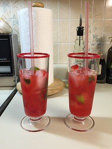 Cherry basil limeade. No alcohol.