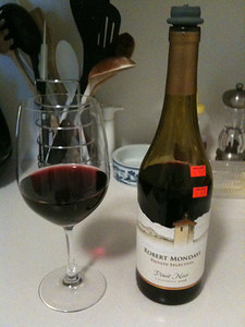 Pinot noir from Robert Mondavi - Napa Valley, California.