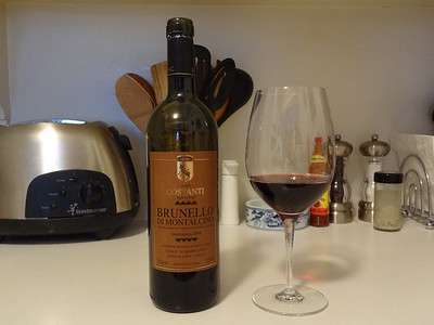 Wonderful sangiovese from the Conti Costanti winery in Tuscany, Italy.