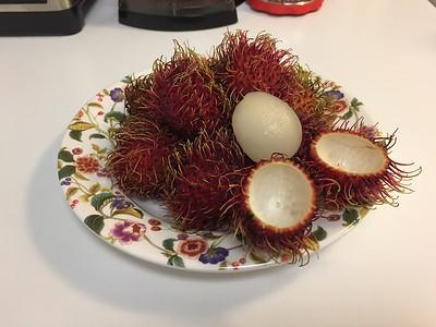 Sweet rambutan fruit.