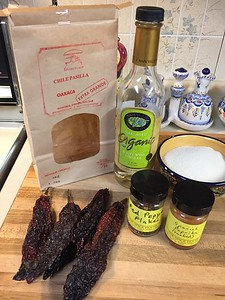 Ingredients for smoked chile jam