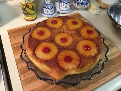 Upside down pineapple cake