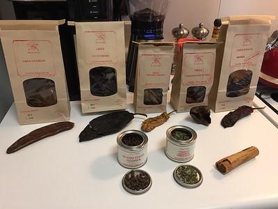 Key ingredients for Oaxacan mole negro sauce.
