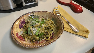 Linguine with Fried Zucchini