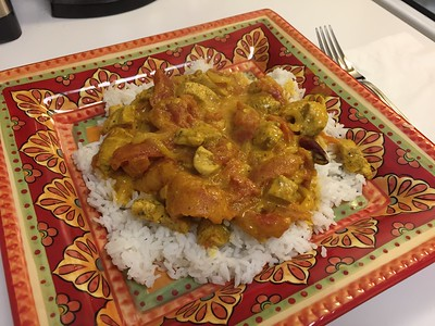 Jamaican Curry Coconut Chicken