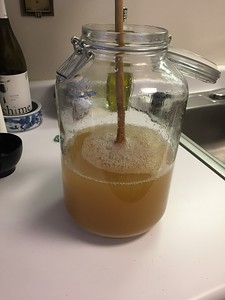 Add 2 cups organic cane sugar. Stir very well. If not making cream limoncello, store in cool, dark place for one week, shaking well once a day.