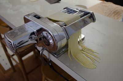 Cut the pressed dough