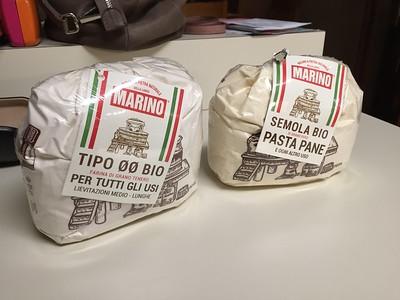 """Semolina and Type """"00"""" flour from Italy. I usually use semolina."""