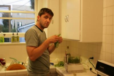 Making Pesto & Flatbread