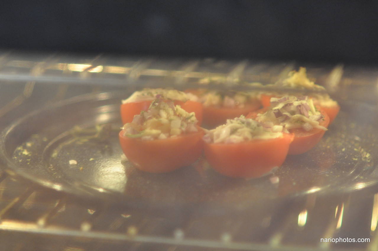 Here they are in the oven, cooking.