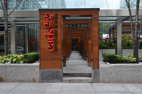 Entrance to the loation in Toronto, Canada.