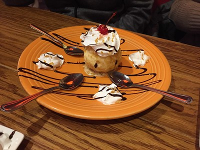 Fried ice cream desert