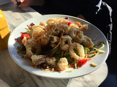 Asian calamari salad
