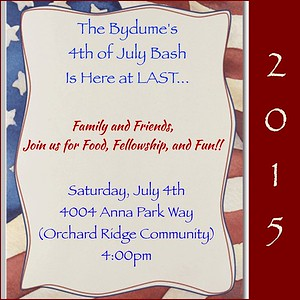The Bydume's 4th of July Bash @ Orchard Ridge Community 2015