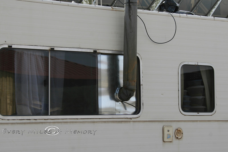 Wood Burning Stove in a Class A RV - Salt River Arizona 2008 (1) - Assorted RV, Campers And Funky Rides We've Seen Along The