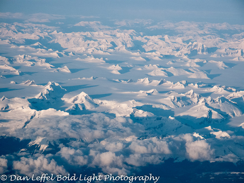 Many Glaciers Somewhere over British Columbia, Canada