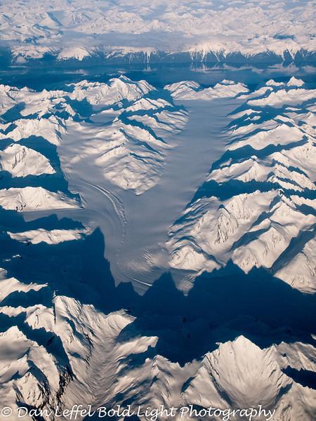South East Alaska Fjord and Large Glacier