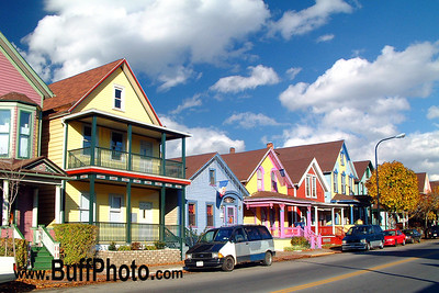 Colorful Houses Elmwood Avenue Buffalo NY
