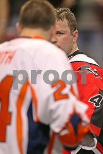 Geoff Snider and Rory Smith dance before their epic fight at the Wachovia Center  LP-08-341-23-vertcrop