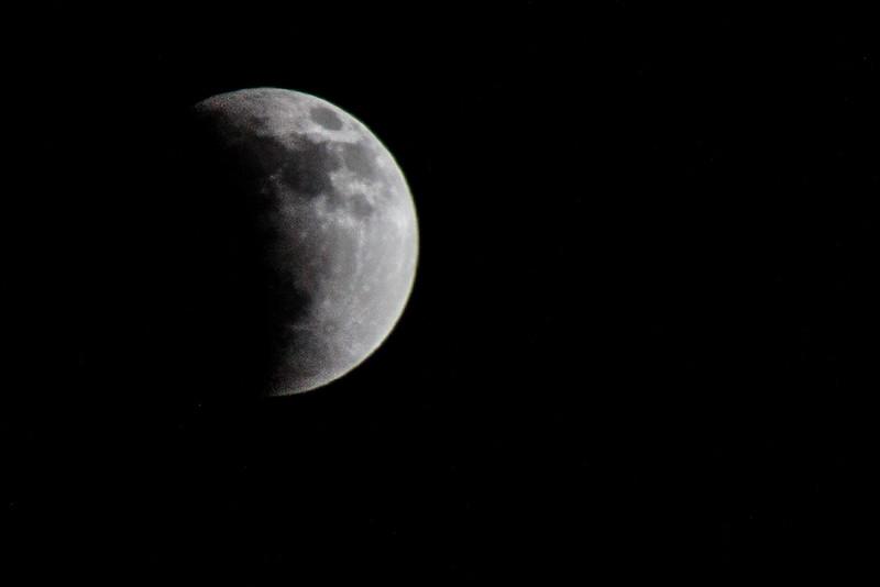 Lunar Eclipse B&W