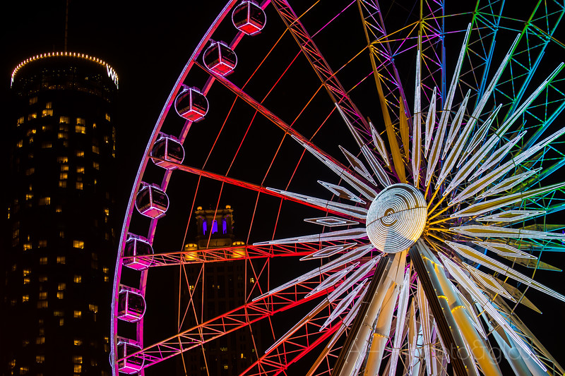 """Neon Rainbow - April 2014<br /> Atlanta, GA<br /> (2x3)<br /> Best Reproduction - No Larger Than 12x18<br /> Honorable Mention - ADSO 15th Annual Photography and Digital Arts Exhibition (Fort Walton Beach, FL) in the Category of """"Architecture"""""""