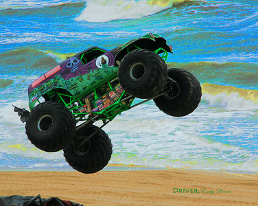 """Gravedigger"" slings his colors into the Atlantic Ocean."
