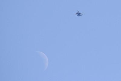 Blue Angel Over Moon