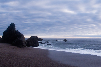Schoolhouse Beach in Bodega Bay, California.