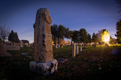 First shot at night photography at the Elmwood Cemetery in Fruita, Colorado.