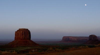 Moon At Monumument Valley.