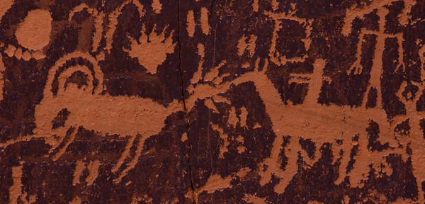 Newspaper Rock, outside of Moab, Utah.
